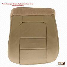 2001 Ford F250 F350 Lariat Lifted 7.3L - PASSENGER Bottom LEATHER Seat Cover Tan