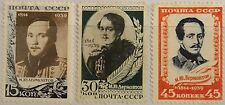 RUSSIA SOWJETUNION 1939 726-28 757-59 125 Geb. Michail Lermontow Dichter Poet MH