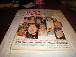 WHO'S WHO IN MOVIES #7 1972 frank sinatra clint eastwood jane fonda magazine