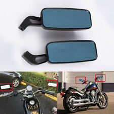 Motorcycle Rectangle Rear View Side Mirrors 8mm 10mm For Honda Harley Davidson