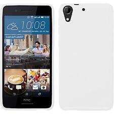 Silicone Case for HTC Desire 728 S-Style white + protective foils
