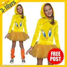 RUBIES Girls Costume Fancy Dress Licensed Looney Tunes Tweety Bird Hooded 610672
