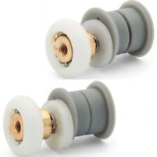 Set of 2  SHOWER DOOR ROLLER /Runners/Wheels 19mm Wheel Dia Thick & Thin E9