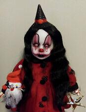 Creepy Horror Ooak Doll 'Candy Cane' Evil Christmas Elf Clown Gothic Art L Ganci