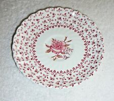 """JOHNSON BROS. SAUCER~""""Rose Bouquet""""~Made In England~Ironstone~Vintage~FREE SHIP"""