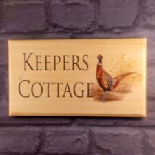 Large Personalised Pheasant House Name / Number Plaque / Sign - Cottage Birds