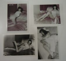 """4 VINTAGE BETTIE PAGE PIN-UP PHOTOS_3 3/4 X 5 3/4""""   *set A"""