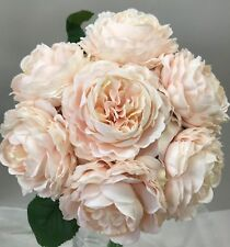 Silk Wedding Bouquet Shabby Rose Flower Pink Peonie Peony Bouquets Flowers