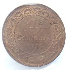 1917 Canada Red Brown One 1 Cent Large Penny ICCS Graded Canadian Coin H269
