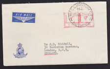 New Zealand 1964 Airmail Cover Adverising Government Railways Wellington Cancel