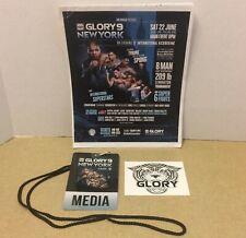 2013 GLORY 9 KICK BOXING MEDIA PACKAGE PRESS PASS & STICKER MMA