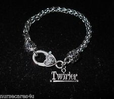 BATON TWIRLING SILVER CHARM BRACLET LOBSTER-HEART CLASP TWIRLER CHARM GREAT GIFT