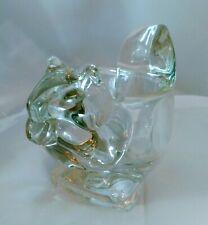 Vtg Avon Crystal Glass Squirrel Votive Tea Light Candle Holder + Free Candle