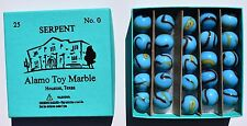 Alamo Toy Marble original box of Serpent (Blue box) marbles 25 No. 0