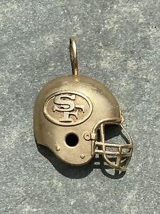 14K Gold San Francisco 49ers NFL Football Helmet Charm Pendant Michael Anthony