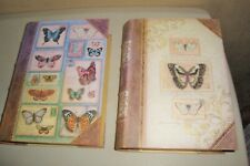 2-Punch Studio Faux Book Storage Boxes Butterfly Design