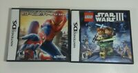 Lot of 2 Nintendo DS games - Lego Star Wars III - Amazing Spiderman - with case