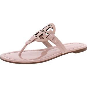 Tory Burch Women's Miller Leather Laser Cut T-Strap Thong Sandal