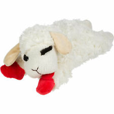 (3 Pack) Multipet INTERNATIONAL Lamb Chop Plush Squeaky Dog Toy 6 inch