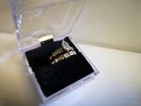 (N45803) 14K White Gold Wedding Set w. Diamonds