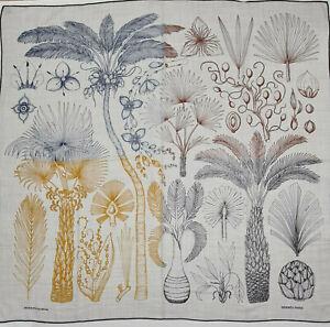 Hermes 140cm Shawl Cashmere Silk Index Palmarum Finesse Scarf Design Katie Scott