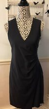 Theory Karianna Women's Dress Size 6 Black Adrian Suiting Stretch Wool LBD NEW