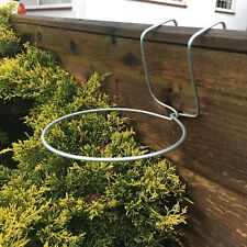 6 FENCE HOOKS PLANT POT HANGER HOLDER RING. HANG  FLOWER POTS ON  FENCES /