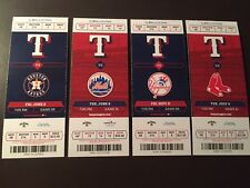 Texas Rangers 2017 Mlb ticket stubs - One ticket - See Listing