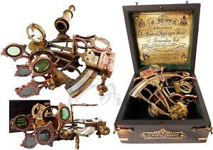 Brass Antique Nautical sextant- antique Sextant-Vintage Nautical Ship Sextant
