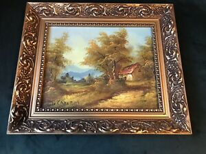 Irene Cafieri Original Signed Oil On Canvas With Antique Style Frame