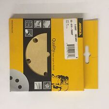 "Mirka Gold 180 grit Retail 5"" 5-hole Gold Grip Discs Package/10 FREE SHIP!"