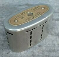 Collectable Vintage District Bank Money Box made by Automatic Recording Safe Co