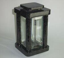 Grablampe Modern Granit Nero Impala Grablaterne Grableuchte Friedhofslaterne
