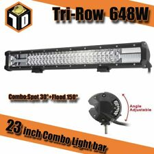 23inch 648W LED Work Light Bar Flood Spot Combo Driving Lamp Offroad Truck SUV