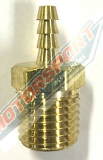 """BRASS BARB, 1/2""""NPT TO 5/16""""(8mm) BARB #SPP415-08-05, FUEL FITTING OIL FITTING"""