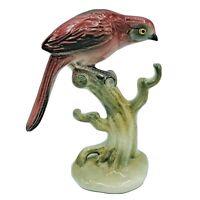 "VTG 1940s Brad Keeler California Pottery Pink Bird on Branch No 17 MCM 5½"" tall"