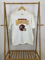 VTG 90s Washington Redskins NFL Short Sleeve Single Stitch T-Shirt Size M