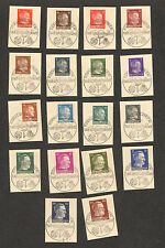 RARE LOT of 18 COMPLETE STAMP HITLER SET 1942 DIENSTPOST OFFICE ROWNO UKRAINE