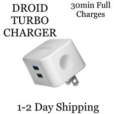DROID High Speed Cell Phone CHARGER Dual USB Port RAPID Wall Charger  and Tablet