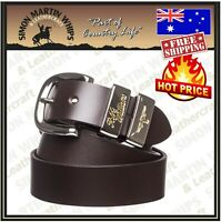 RM Williams Leather Work Belt - RRP 99.99 - Australian Made - Jerrawa 1 1/2in