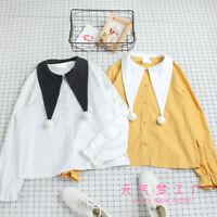 Vintage Japanese Kawaii Elegant Mori Girl Sweet Lolita Tops Long Sleeve Blouse