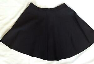 NWT juniors womens abercromie & fitch solid black skater circle skirt S