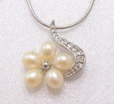 Oval Pearl Crystal Costume Necklaces & Pendants