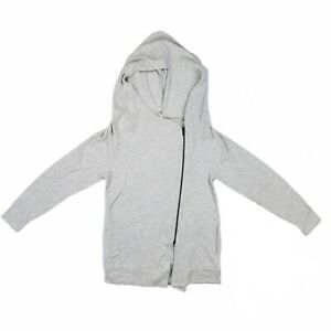 Lucy Activewear Asymmetric Zip Gray Hoodie size Small