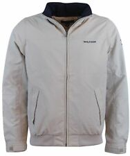 Tommy Hilfiger Mens Nylon Yacht Jacket Windbreaker-Beige-S
