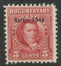 us revenue documentary stamp scott r390 - 5 cent issue of 1944 - mh