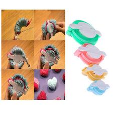 Plastic Pompom Maker Weaver Needle Knitting DIY Ball Weaving Tools 1Set(4Sizes)