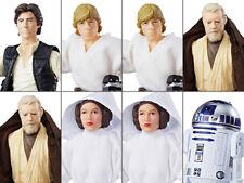 "Hasbro Star Wars black 6"" 40th anniversary case wave 20 2016 8 figures NEW"