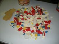 Playskool Vintage Canister of Building Blocks  1970 With Manual No.535 Rare