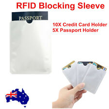 RFID Blocking Sleeve Secure Credit Card ID Protector Anti Scan Safet 5xl 10xs